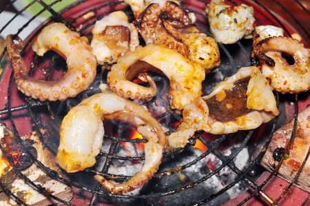 Octopus on the grill