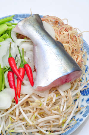 pangasius: Pangasius or Vietnamese catfish in the kitchen in a white background