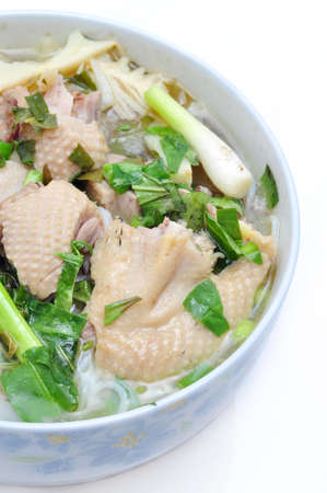 rice noodles: Bun Mang Vit or Vietnamese Rice Vermicelli with Bamboo Shoots and Duck Salad