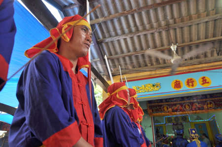 NHA TRANG, VIETNAM - MARCH 4, 2012: Cau Ngu festival in Vietnam, which is also called Whale festival, is the biggest festival for fisherman who demand for air windless sea and luck in fishing Banco de Imagens - 41419077