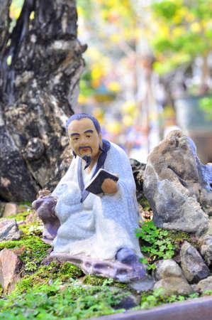 Konfucianista ve soše Reklamní fotografie