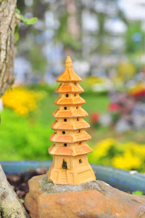 temple tower: A bonsai temple tower