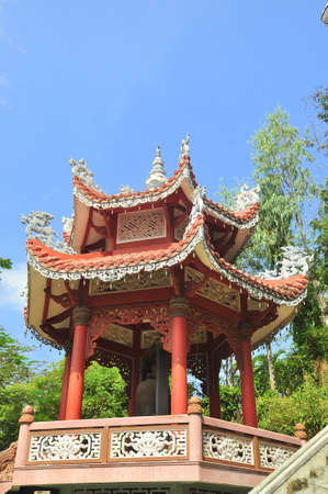 A traditional Chinese temple in a pagoda in asia