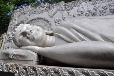 nirvana: Statue of Buddha is lying to the nirvana
