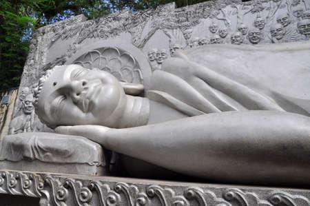nirvana: Statue of Buddha is lying to the nirvana