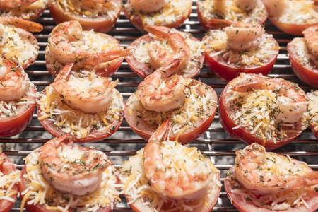 shrimp cocktail: Fried tomato shrimp cake on the grill