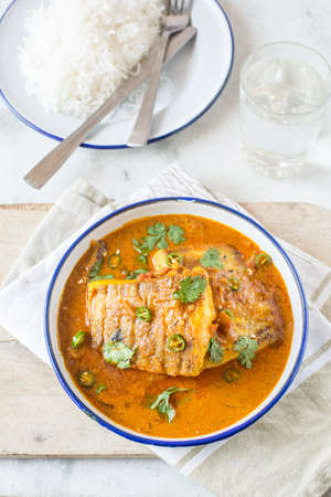 exotically: Fish In Curried Coconut Sauce Recipe in Indian style