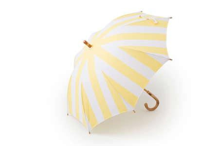 Zebra cross umbrella on the white background Stock Photo
