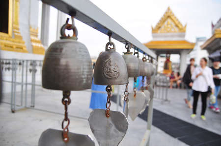 samsara: Bells of reincarnation or Samsara in a pagoda in Thailand