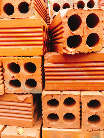 Red bricks wall texture