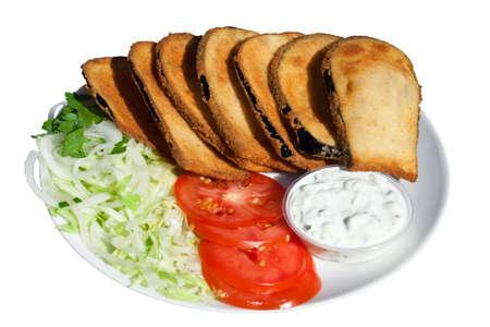 breaded: breaded eggplant
