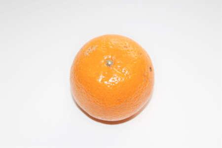 Mandarin on a white background