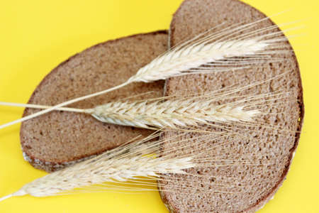 Black rye bread spikes rye