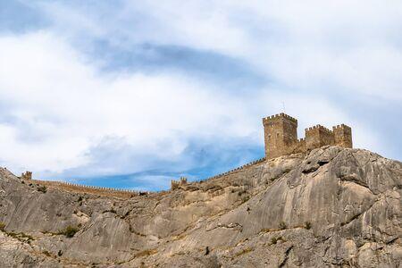sudak: The Genoa fortress - sight on peninsula Crimea  Sudak, Crimea, Ukraine Editorial