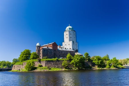Castle at the sunny day in Vyborg, Russia photo