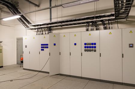 switchgear: Switchgeer main distribution board in electrical room