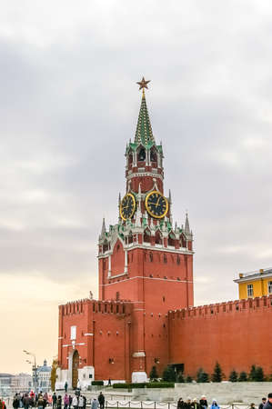 historic place: View in Kremlin Castle in Moscow, Russia