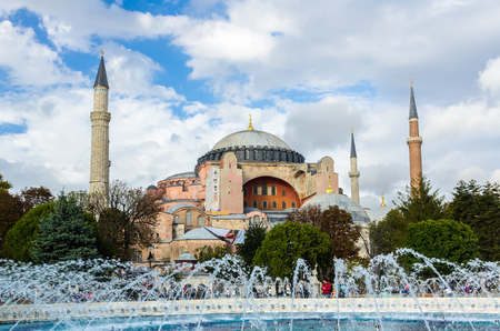 aya sofia: View on Aya Sofia Temple in Istanbul, Turkey