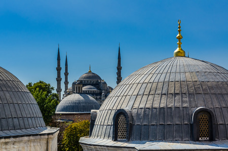aya sofia: Top view on Aya Sofia Temple in Istanbul, Turkey