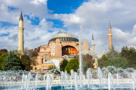 aya sofia: View on Aya Sofia Temple in Istanbul Turkey