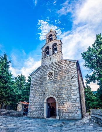 thomas stone: View of Saint Thomas church in Becici, Montenegro
