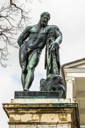 tsarskoye: Heracles Statue of Cameron Gallery in Catherine Park in Tsarskoye Selo (Pushkin), Russia