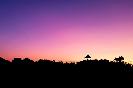 Amazing scenery view on sunset in Ubud, Bali, Indonesia Stok Fotoğraf