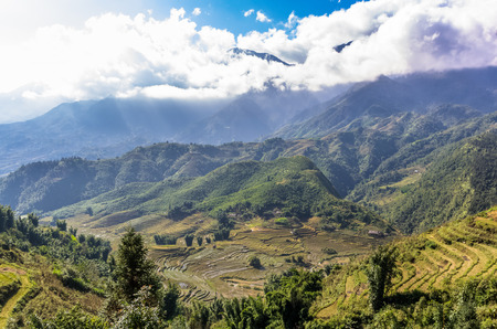 Amazing view on mountain in Sapa village, Vietnam