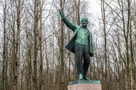 View on Lenin monument near Razliv Lake, Leningrad region