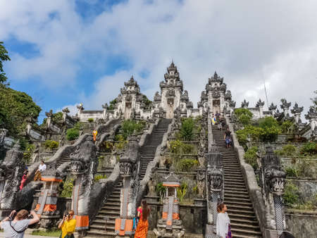 BALI, INDONESIA - SEPTEMBER 18: View on the Pura Lempuyang Luhur Temple at September 18, 2018 in Bali, Indonesia