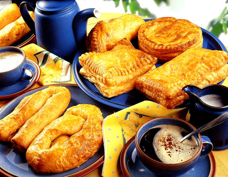 french cuisine: Assorted pies