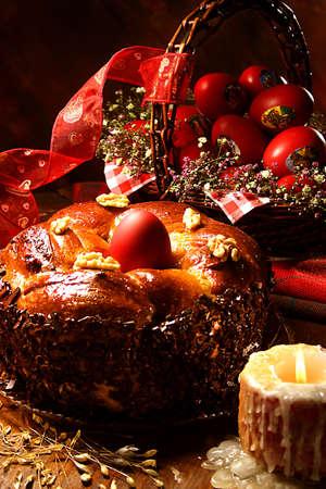 orthodox easter: Easter cake Stock Photo