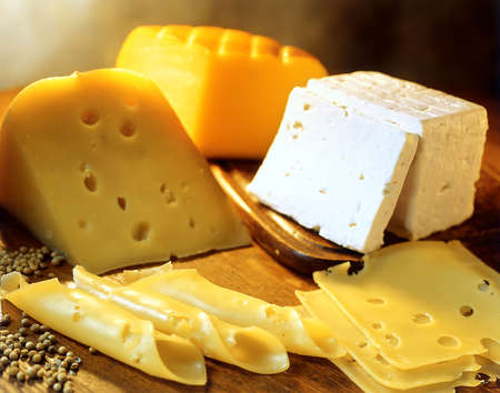 cheeses: Variety of cheeses