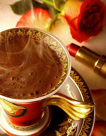 greek pot: Caffè turco Archivio Fotografico