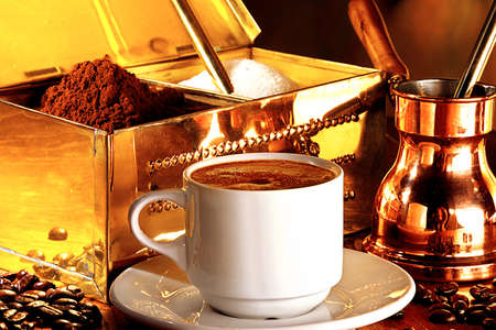 turkish delight: Traditional serving of turkish coffee
