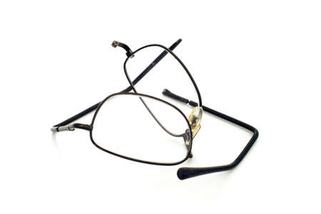 ANXIETY CRISIS - Eye glasses that have been broken during an anxiety crisis. Zdjęcie Seryjne