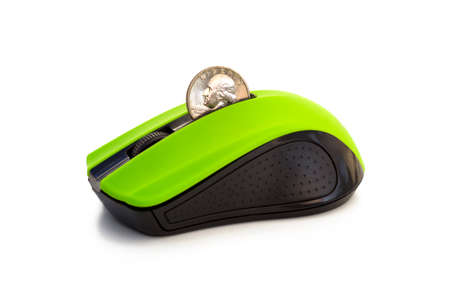 TRANSFER MONEY ONLINE 3 - A mouse with a slot for coins that allows transferring real money online. Zdjęcie Seryjne