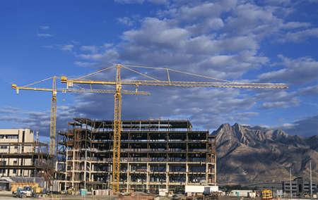 Dual Construction Cranes Stock Photo - 778072