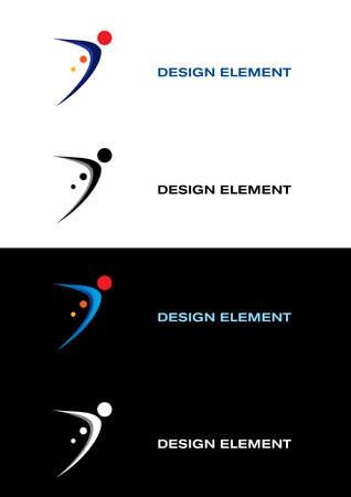 communication occupation: Logo modelli dello sport. Sfondi di bianco e nero