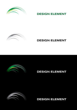 Logo templates. Black and white backgrounds Vector