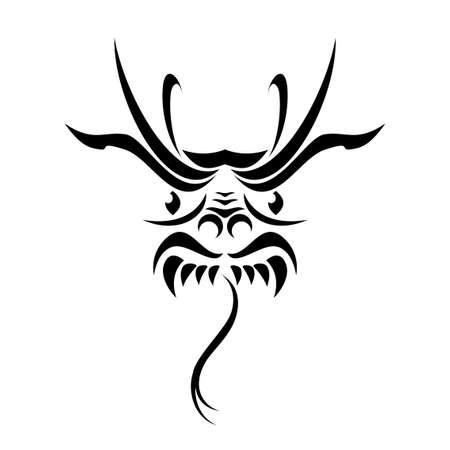 tatouage dragon: Tatouage tribal dragon.