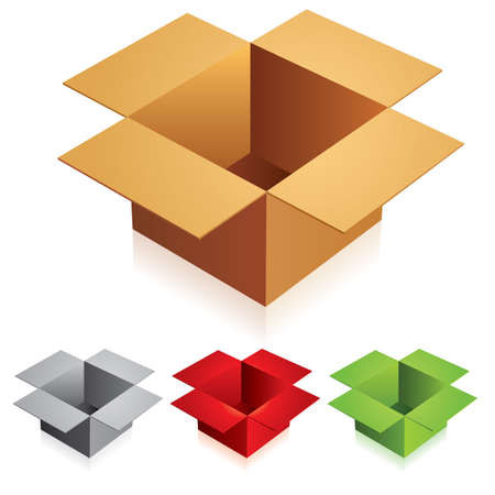 illustration of opened box on white background Vector
