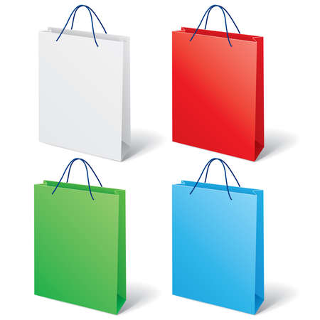 illustration of colorful shopping bag Vector