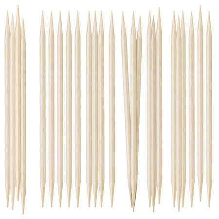 Toothpicks on a white background photo