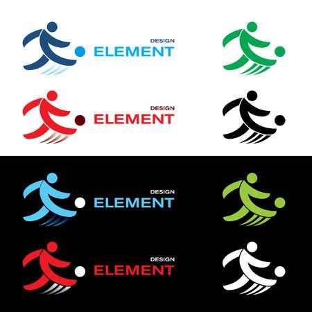 Set of football design elements.  Vector