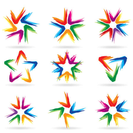 Set of different stars icons for your design. White releases #11. Stock Vector - 7367802