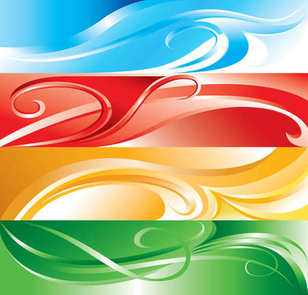 Vector multicolor flourish background for you design Vector
