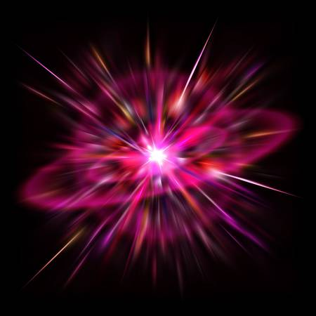 The bright flash of Red Supernova in deep space. Stock Photo - 7458610
