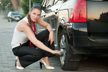 Accident on a road Stock Photo - 7489577