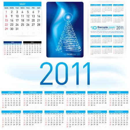 illustration. Informal Style 2011 Calendar Template. Stock Vector - 7570837